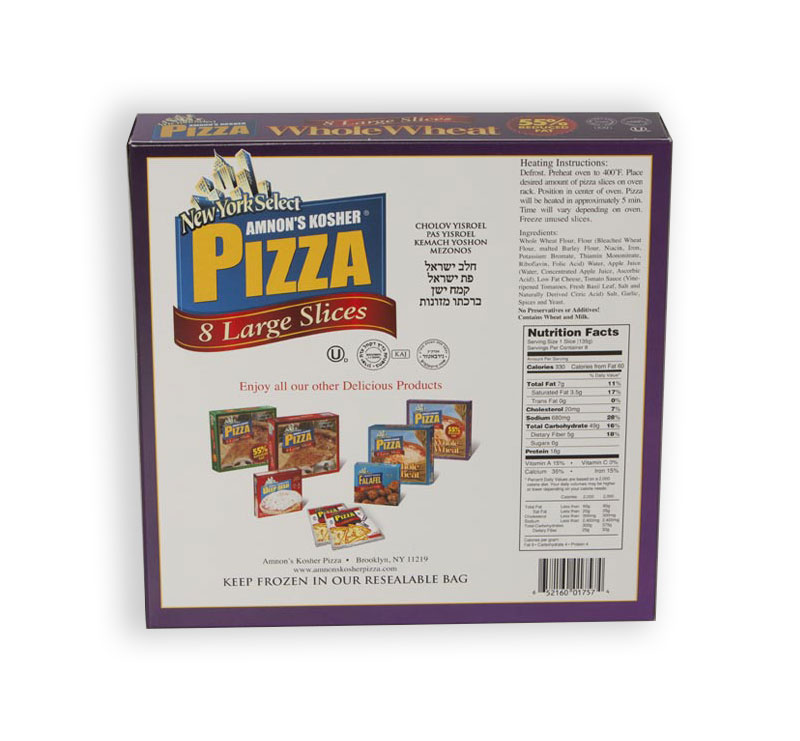 Amnons Reduced Fat Whole Wheat Pizza Back