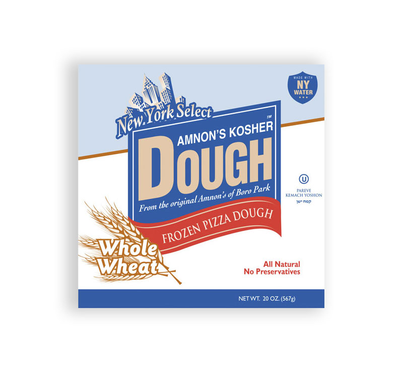 Amnons Whole Wheat Frozen Pizza Dough 1