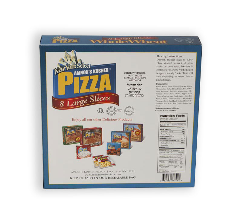Amnons Whole Wheat Pizza Back